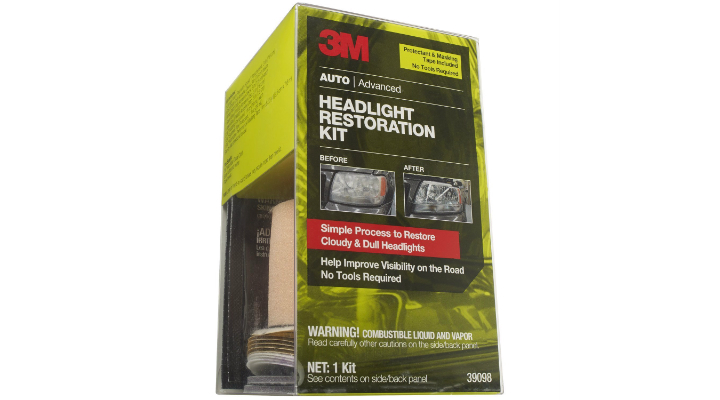 3M 39098 Headlight Restoration Kit with Tape and Protectant