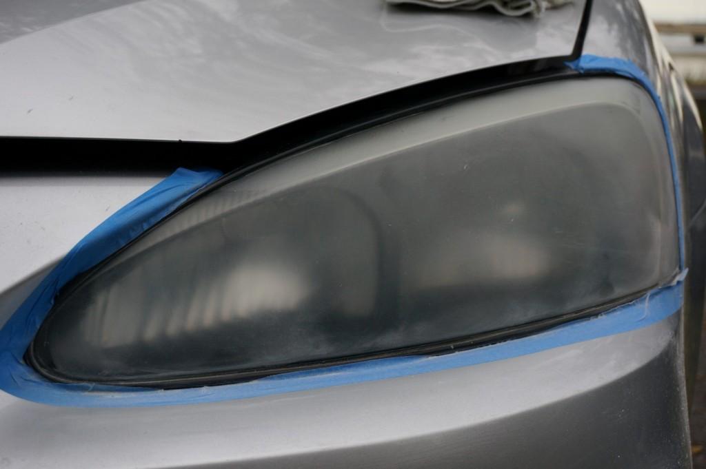 A Properly Taped Headlight - Best Headlight Restoration Kit
